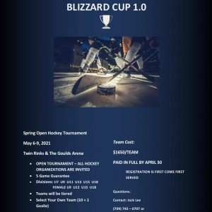 **BLIZZARD CUP REGISTRATION FEE**